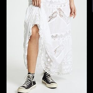 Free people piece of heart lace skirt